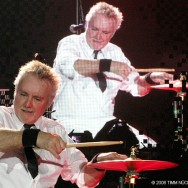 Roger Taylor on the drums