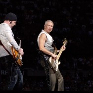 The Edge and Adam Clayton of U2
